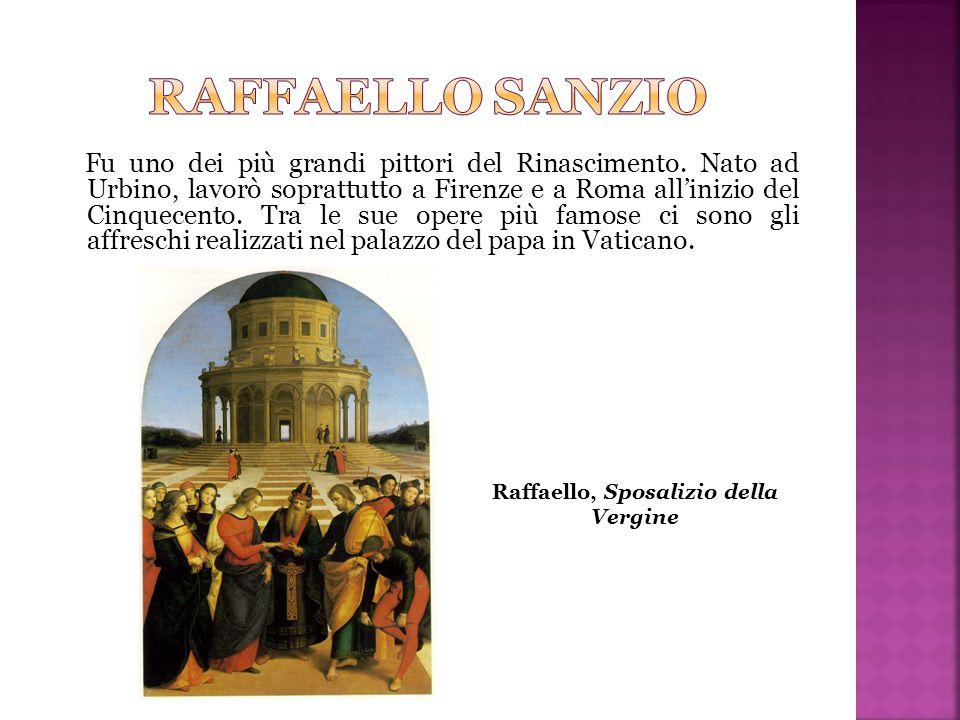 Fu uno dei più grandi pittori del Rinascimento. Nato ad Urbino, lavorò soprattutto a Firenze e a Roma all'inizio del Cinquecento. Tra le sue opere più