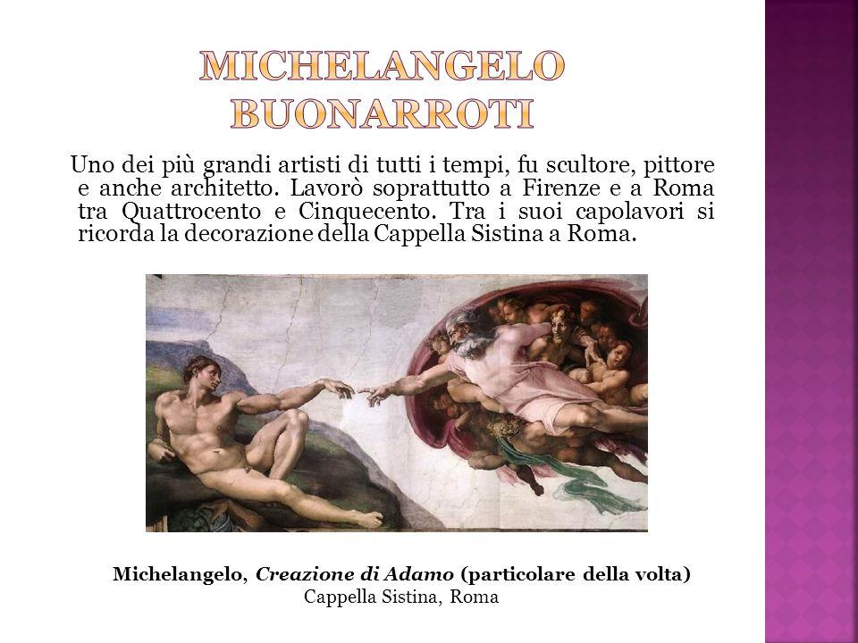 Uno dei più grandi artisti di tutti i tempi, fu scultore, pittore e anche architetto. Lavorò soprattutto a Firenze e a Roma tra Quattrocento e Cinquec