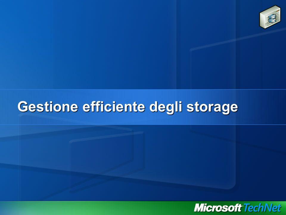 Gestione efficiente degli storage