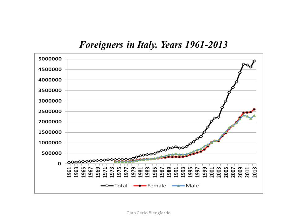 Foreigners in Italy. Years 1961-2013 Gian Carlo Blangiardo