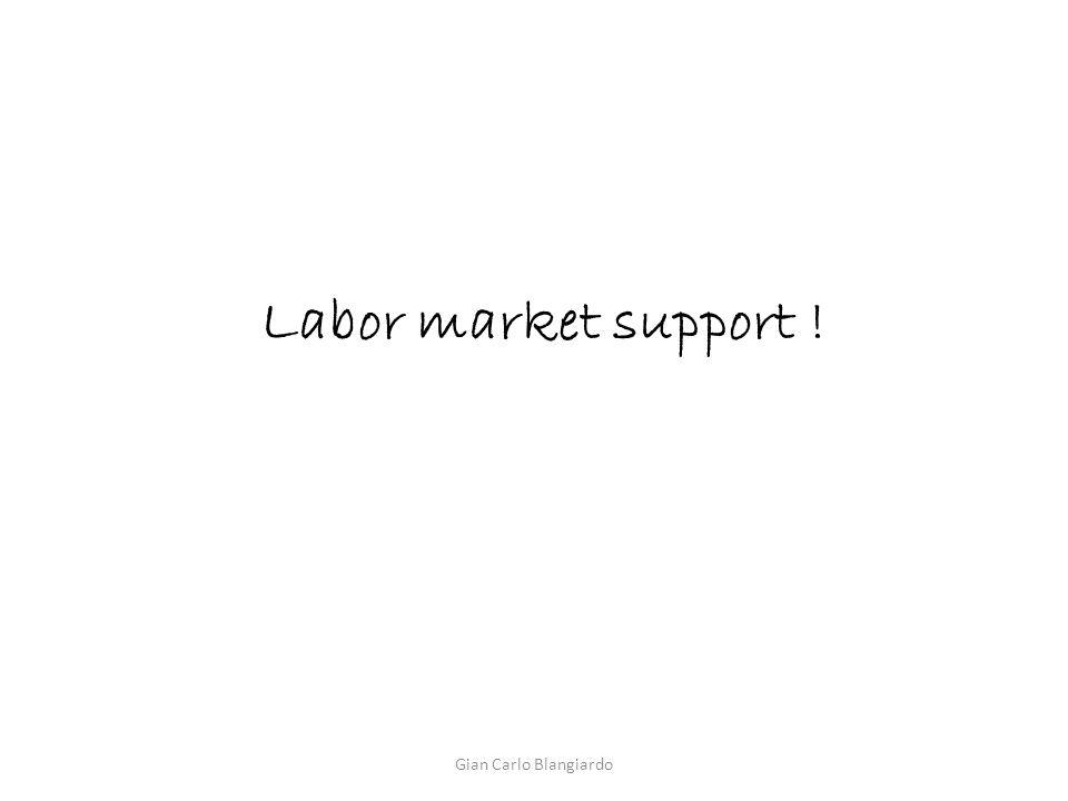 Labor market support ! Gian Carlo Blangiardo