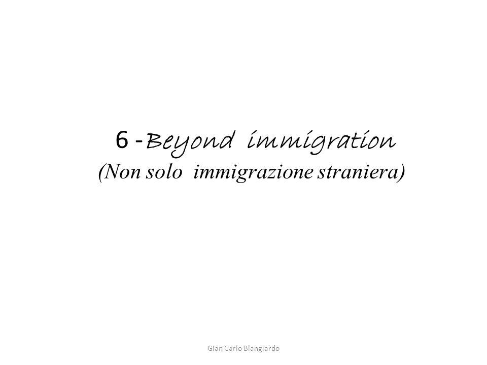 6 - Beyond immigration (Non solo immigrazione straniera) Gian Carlo Blangiardo