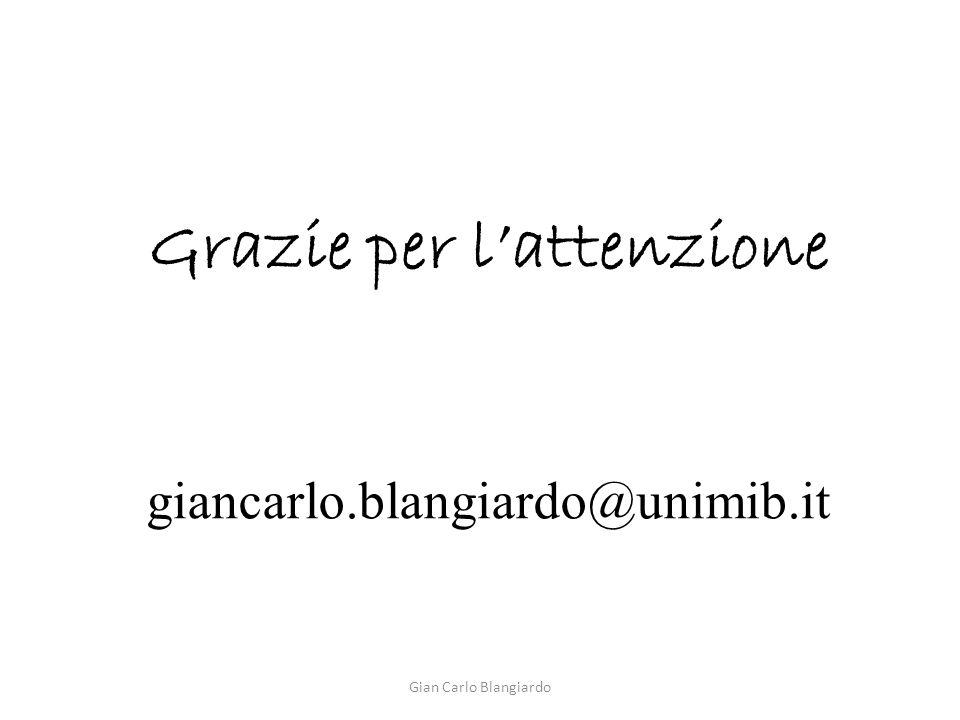 Grazie per l'attenzione giancarlo.blangiardo@unimib.it Gian Carlo Blangiardo
