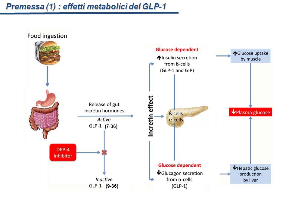 Premessa (1) : effetti metabolici del GLP-1 (7-36) (9-36)