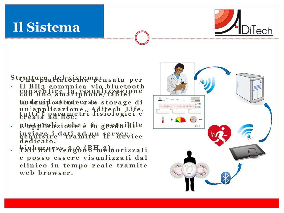 Una piattaforma pensata per consentire la visualizzazione in tempo reale e lo storage di tutti i parametri fisiologici e posturali che è possibile acquisire tramite il device bioharness 3.0 (BH 3).