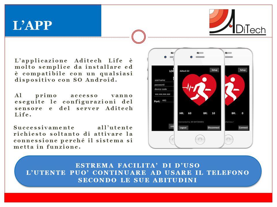 L'applicazione Aditech Life è molto semplice da installare ed è compatibile con un qualsiasi dispositivo con SO Android. Al primo accesso vanno esegui