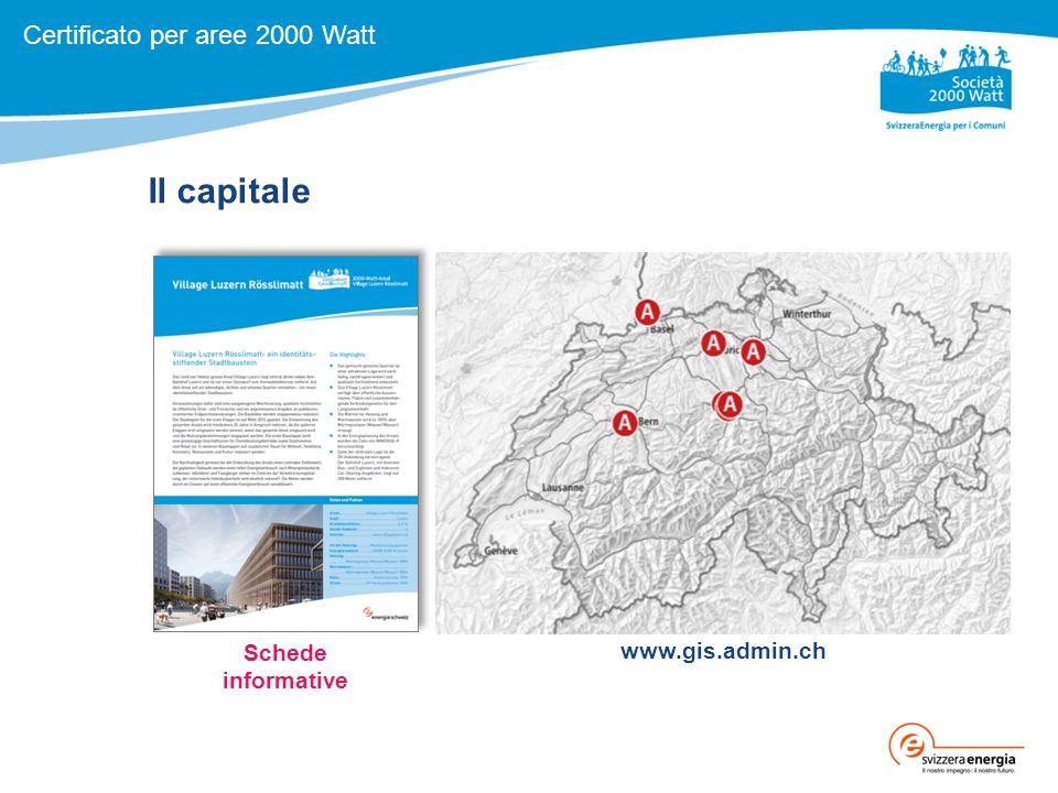 Il capitale Schede informative www.gis.admin.ch Certificato per aree 2000 Watt