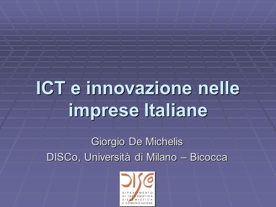 Indice  Alcune disruptive innovations  Le imprese Italiane di fronte all'innovazione  Innovazione e ICT per le imprese Italiane  Conclusioni
