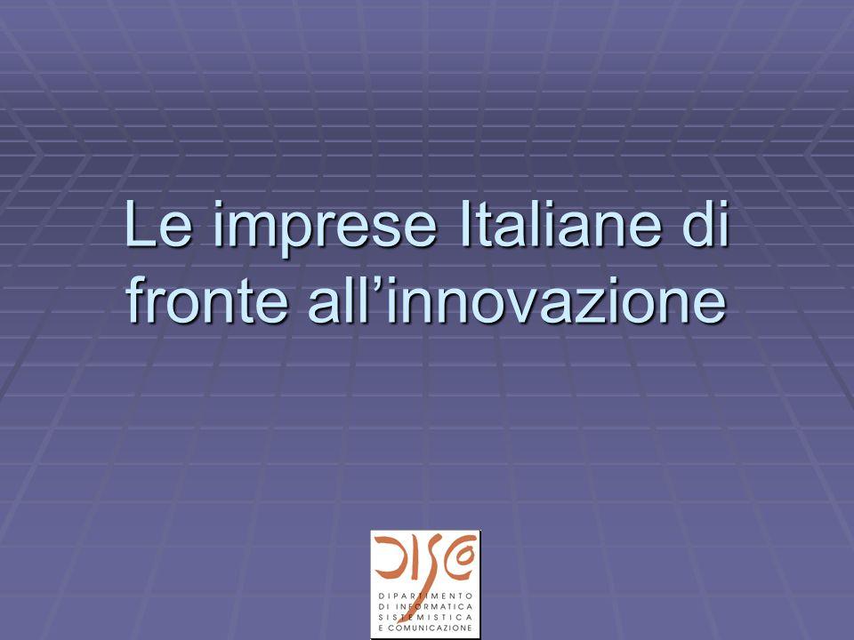 Le imprese Italiane di fronte all'innovazione
