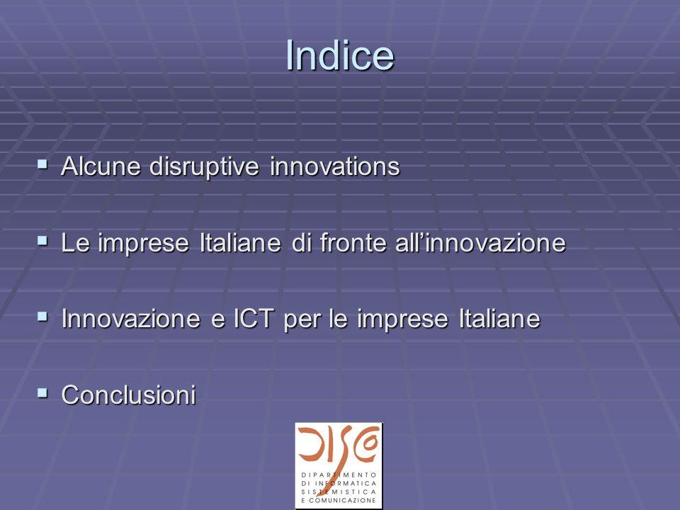 Alcune disruptive innovations