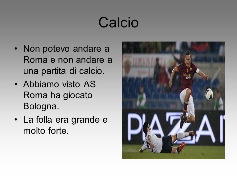Calcio Non potevo andare a Roma e non andare a una partita di calcio. Abbiamo visto AS Roma ha giocato Bologna. La folla era grande e molto forte.