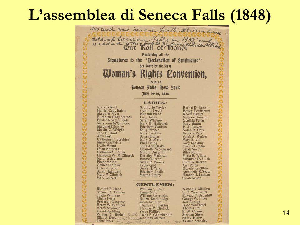 14 L'assemblea di Seneca Falls (1848)