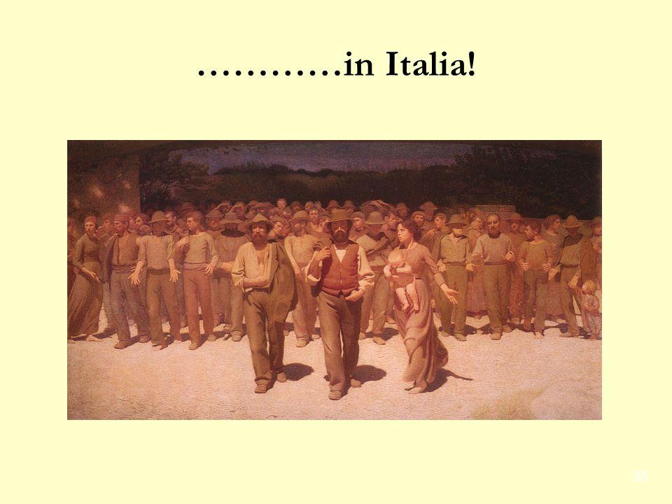 35 …………in Italia!