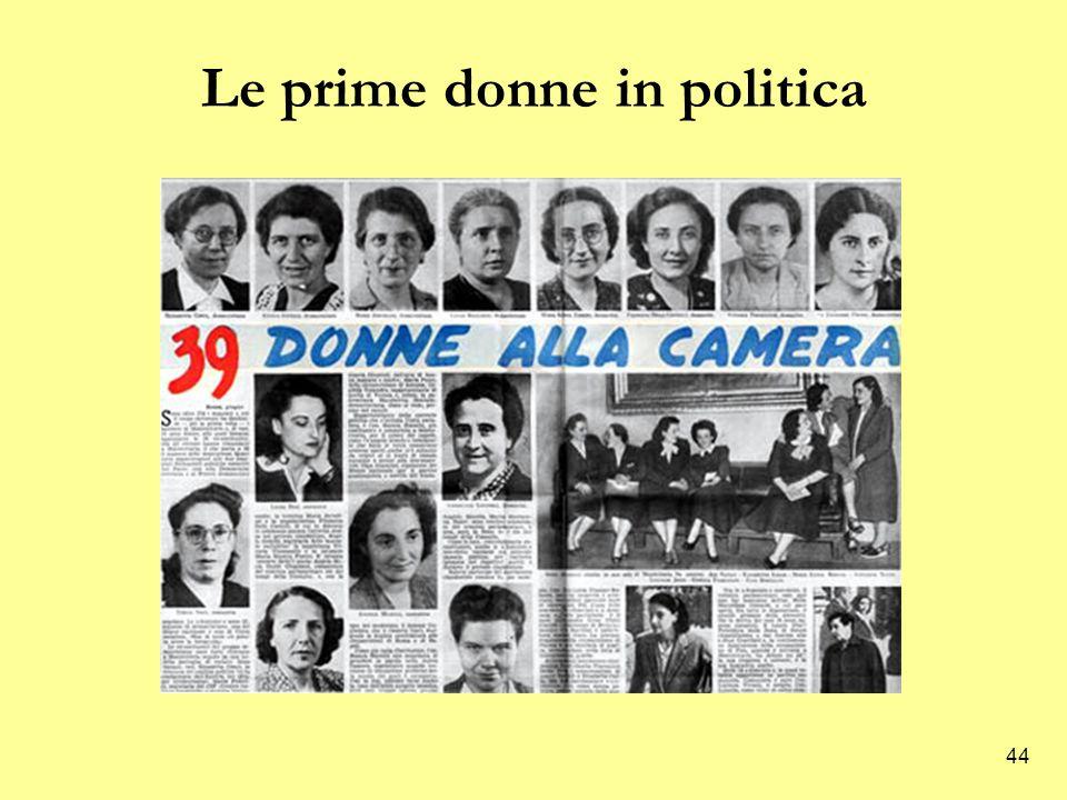 44 Le prime donne in politica