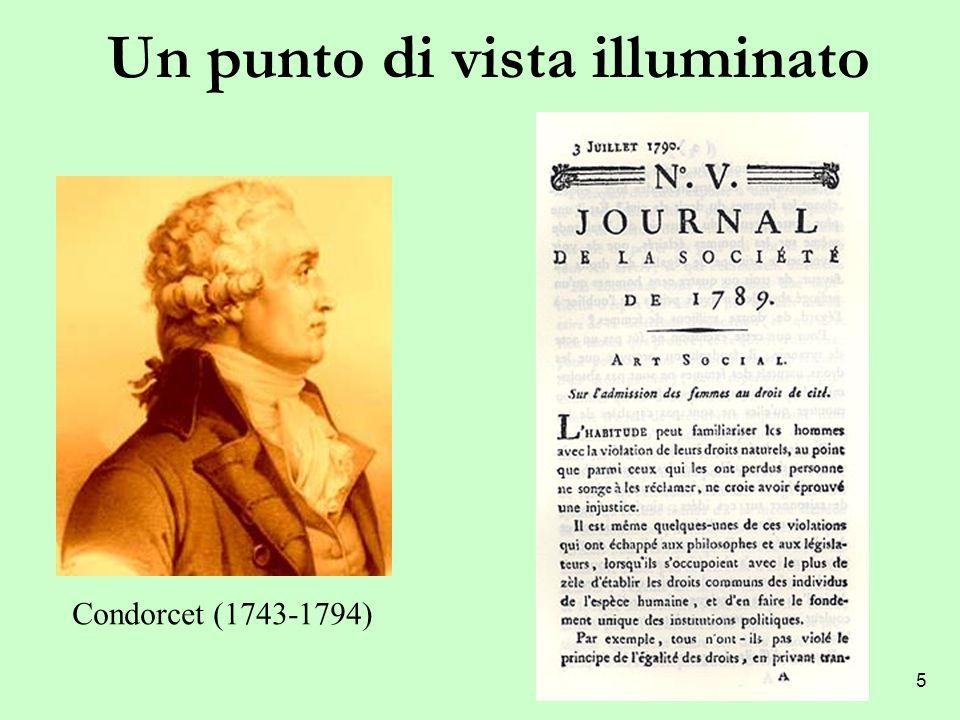 5 Un punto di vista illuminato Condorcet (1743-1794)