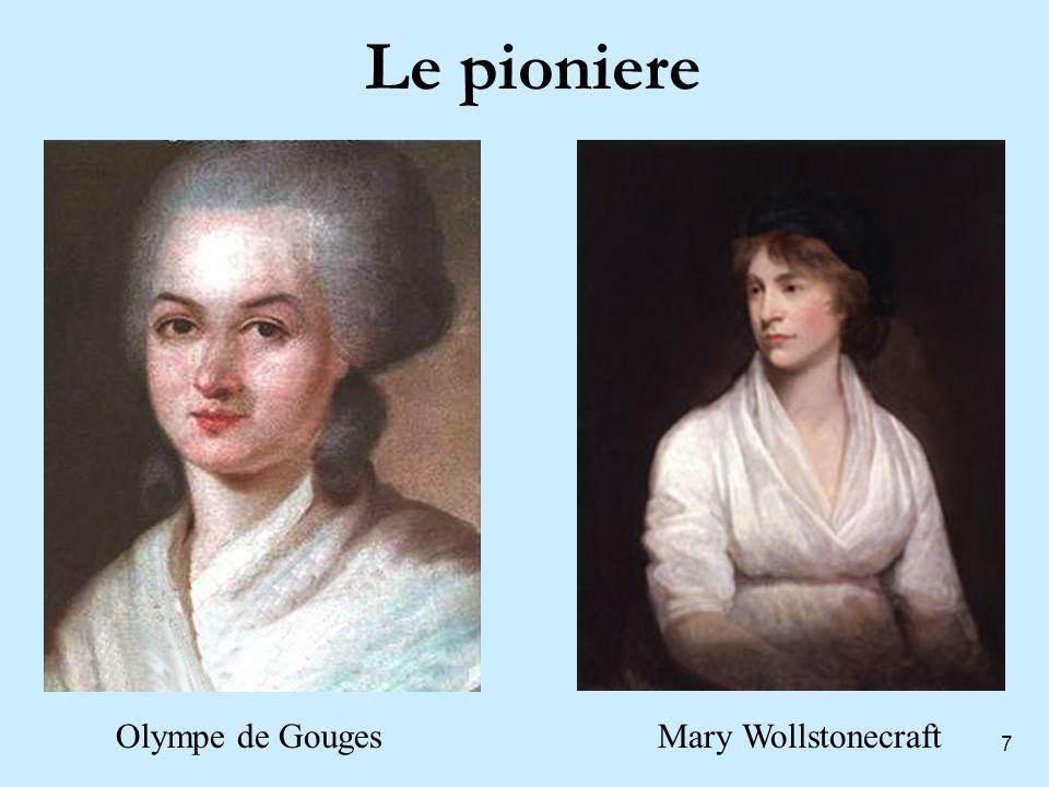 7 Le pioniere Olympe de GougesMary Wollstonecraft