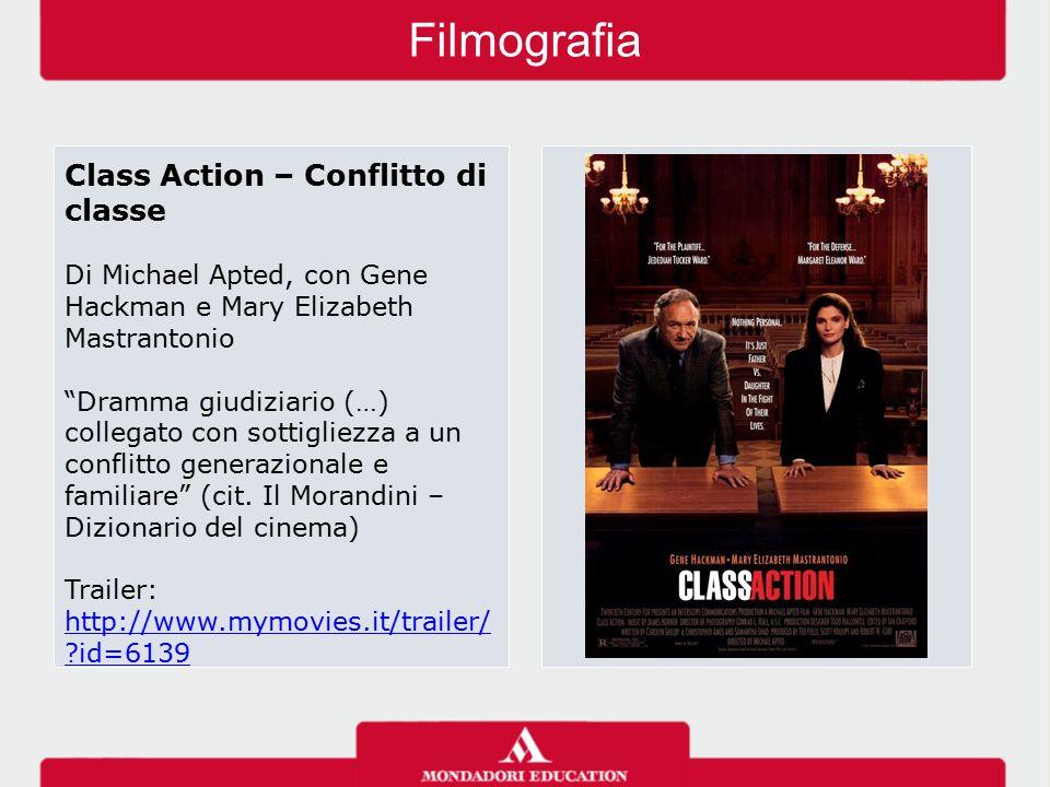 """Filmografia Class Action – Conflitto di classe Di Michael Apted, con Gene Hackman e Mary Elizabeth Mastrantonio """"Dramma giudiziario (…) collegato con"""