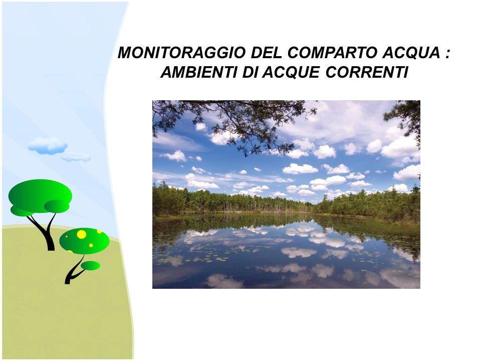 MONITORAGGIO DEL COMPARTO ACQUA : AMBIENTI DI ACQUE CORRENTI