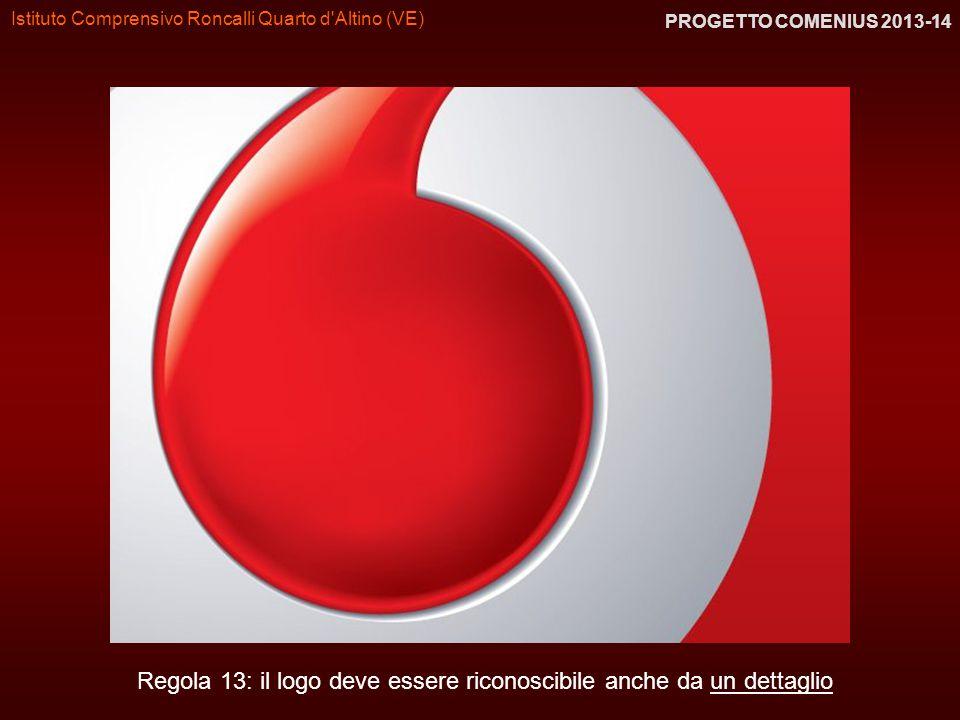 Istituto Comprensivo Roncalli Quarto d'Altino (VE) PROGETTO COMENIUS 2013-14 Regola 13: il logo deve essere riconoscibile anche da un dettaglio