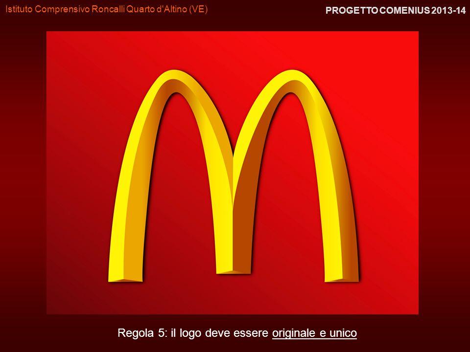 Istituto Comprensivo Roncalli Quarto d'Altino (VE) PROGETTO COMENIUS 2013-14 Regola 5: il logo deve essere originale e unico