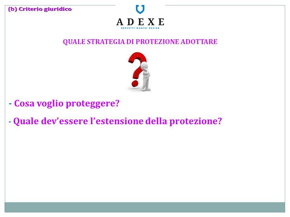 QUALE STRATEGIA DI PROTEZIONE ADOTTARE - Cosa voglio proteggere? - Quale dev'essere l'estensione della protezione?