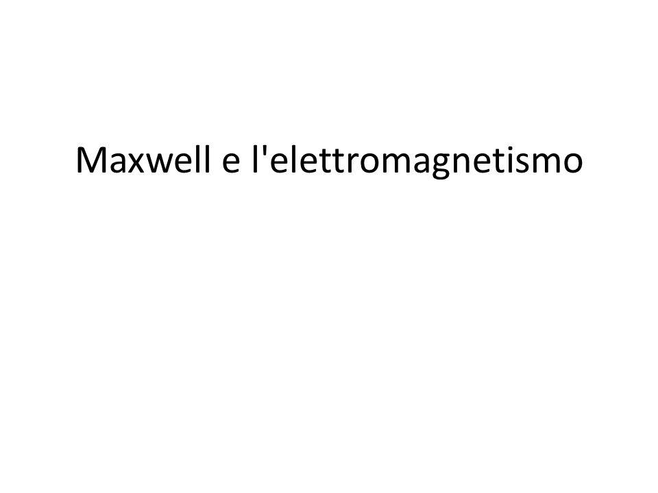 Maxwell e l'elettromagnetismo