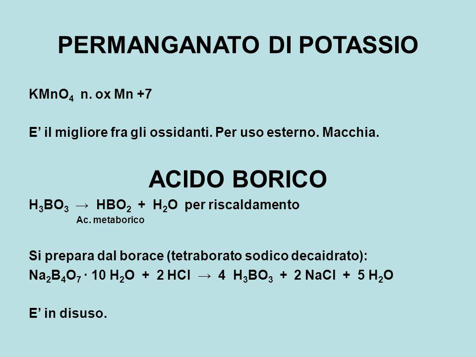 ANTI-INFETTIVI LOCALI ORGANICI ALCOL ETILICO Alcol etilico (etanolo, spirito di vino) C 2 H 5 OH Si ottiene per sintesi o per fermentazione In commercio ne esistono 4 qualità: a)Alcol assoluto (99% in peso) b)Alcol o alcol rettificato (~93%) c)Alcol greggio (80÷96%) d)Alcol denaturato (aadizionato di metanolo, piridina e fucsina) Discreto agente battericida.