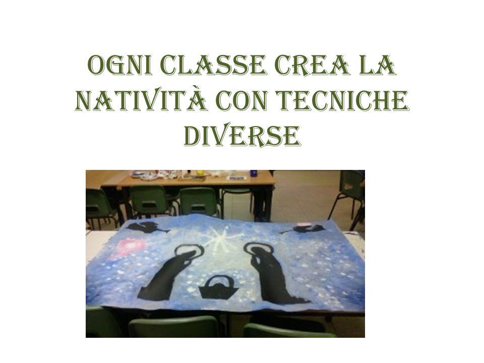 Ogni classe crea la natività con tecniche diverse