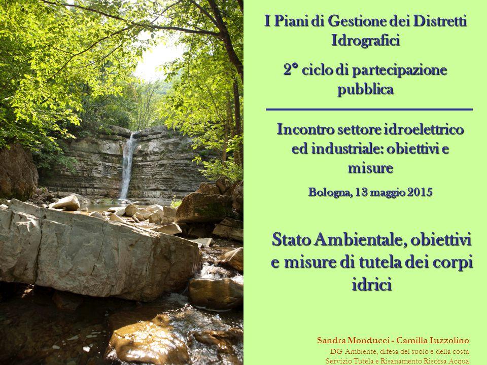 I Piani di Gestione dei Distretti Idrografici 2° ciclo di partecipazione pubblica Sandra Monducci - Camilla Iuzzolino DG Ambiente, difesa del suolo e