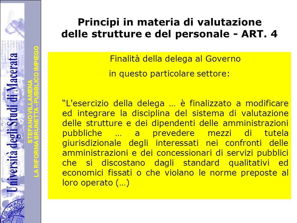 Università degli Studi di Perugia LA RIFORMA BRUNETTA - PUBBLICO IMPIEGO STEFANO VILLAMENA Principi in materia di valutazione delle strutture e del personale - ART.