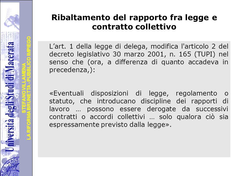 Università degli Studi di Perugia LA RIFORMA BRUNETTA - PUBBLICO IMPIEGO STEFANO VILLAMENA Segue … oppure con disposizioni di principio tout cour 4.
