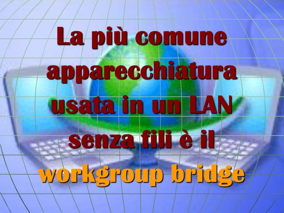 La più comune apparecchiatura usata in un LAN senza fili è il workgroup bridge