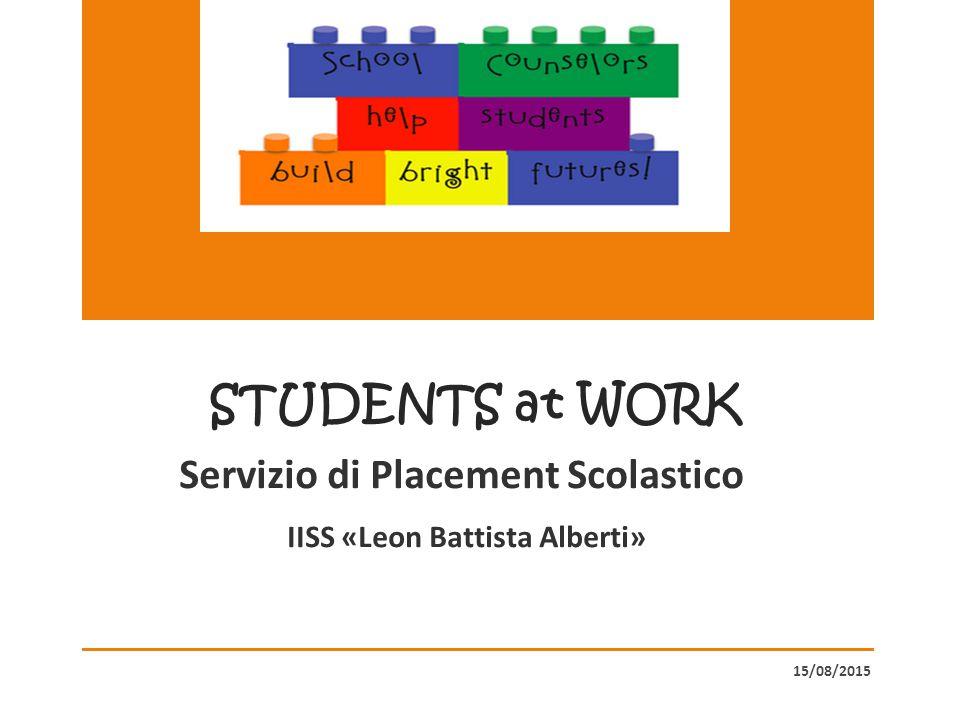 La vostra scuola può aiutarvi a orientare le vostre scelte e mettervi in contatto con il mondo del lavoro, grazie all'attivazione del nuovo Servizio di Placement Scolastico.