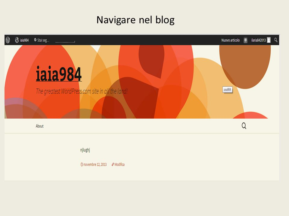 Navigare nel blog