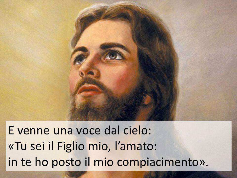 E venne una voce dal cielo: «Tu sei il Figlio mio, l'amato: in te ho posto il mio compiacimento».