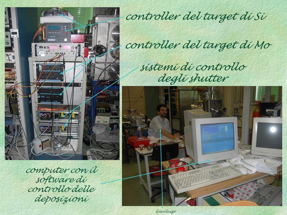 sistemi di controllo degli shutter controller del target di Si controller del target di Mo computer con il software di controllo delle deposizioni Gia