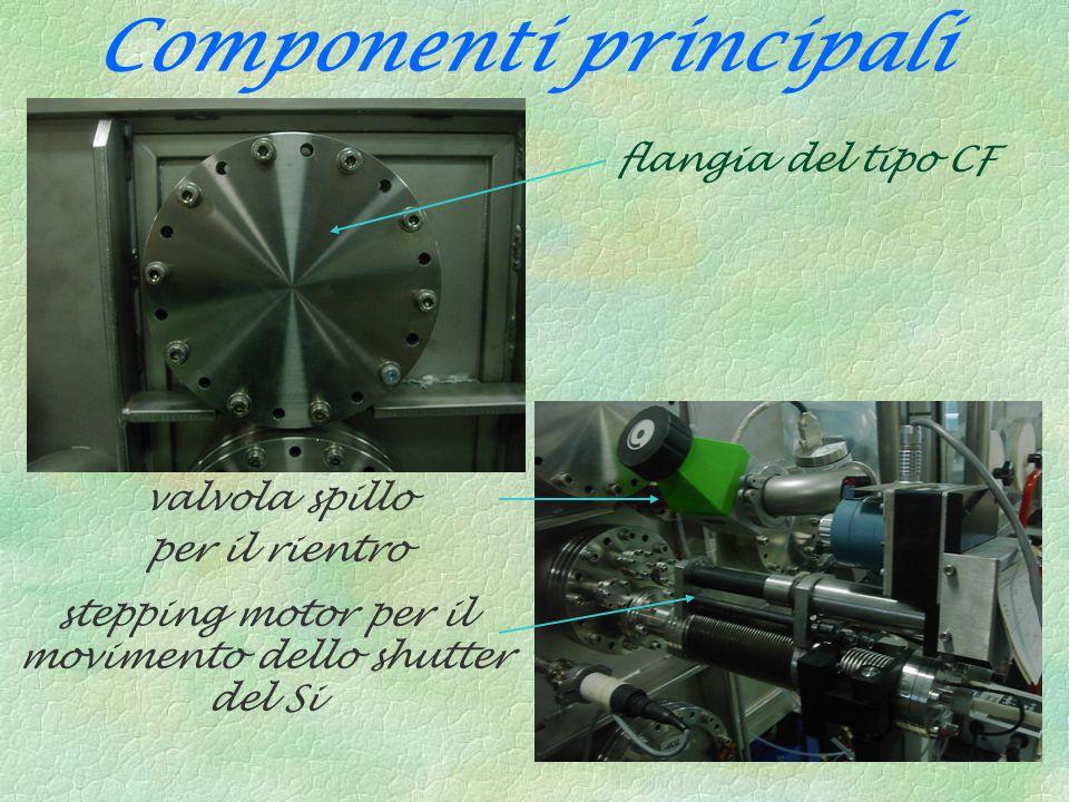 flangia del tipo CF valvola spillo per il rientro stepping motor per il movimento dello shutter del Si Componenti principali