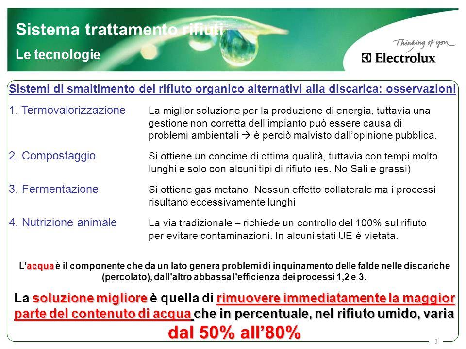 3 acqua L'acqua è il componente che da un lato genera problemi di inquinamento delle falde nelle discariche (percolato), dall'altro abbassa l'efficien
