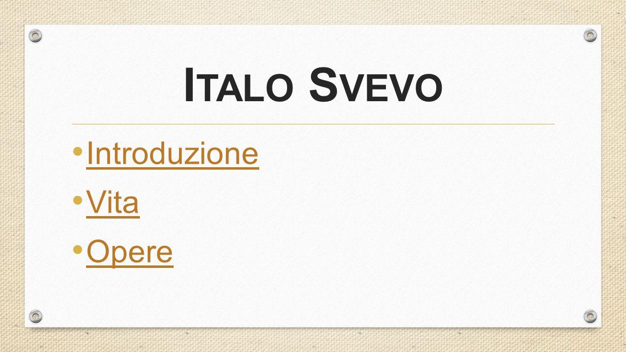 I TALO S VEVO Introduzione Vita Opere