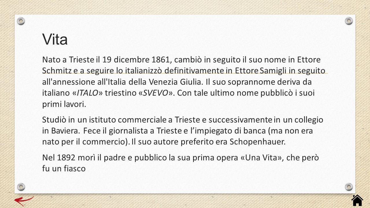 Nato a Trieste il 19 dicembre 1861, cambiò in seguito il suo nome in Ettore Schmitz e a seguire lo italianizzò definitivamente in Ettore Samigli in se