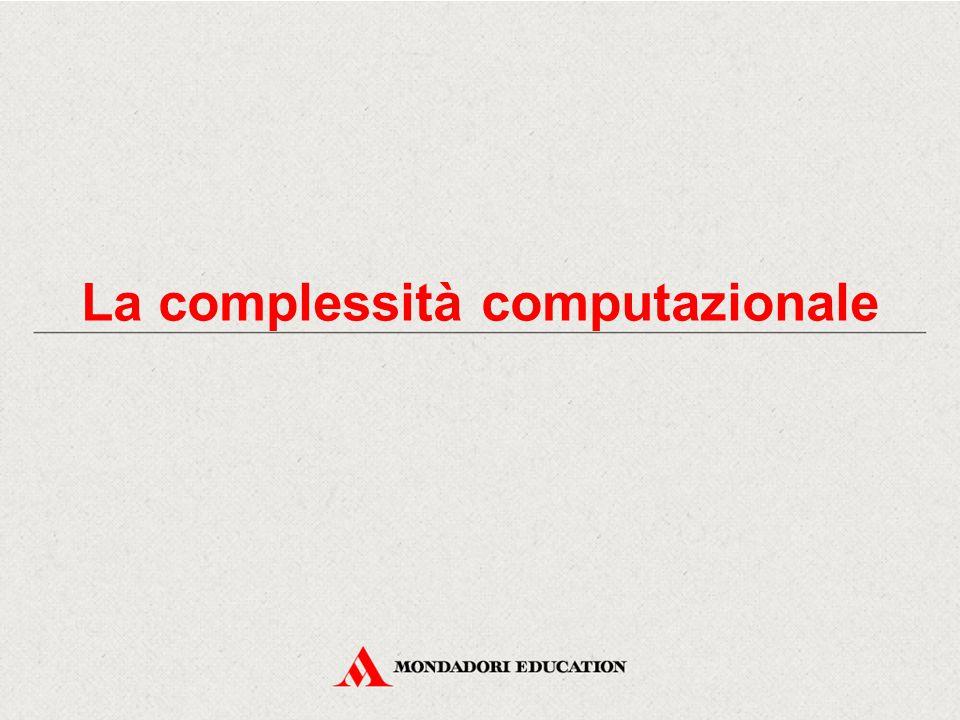 Algoritmi con medesima classe di complessità Due algoritmi appartenenti alla stessa classe di complessità possono essere confrontati relativamente al tempo di esecuzione.