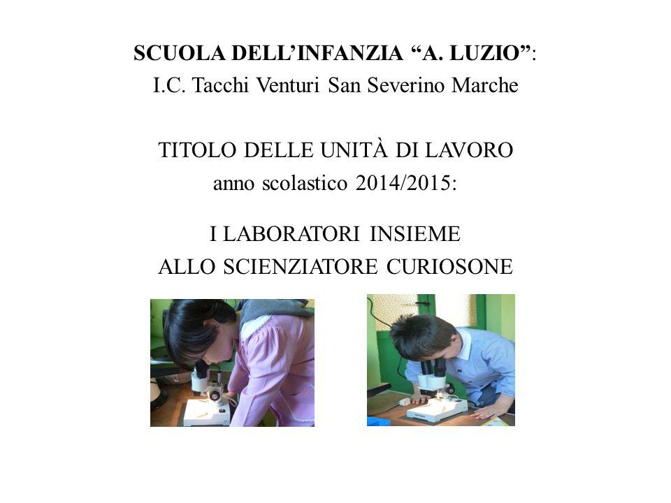 SCUOLA DELL'INFANZIA A. LUZIO : I.C.