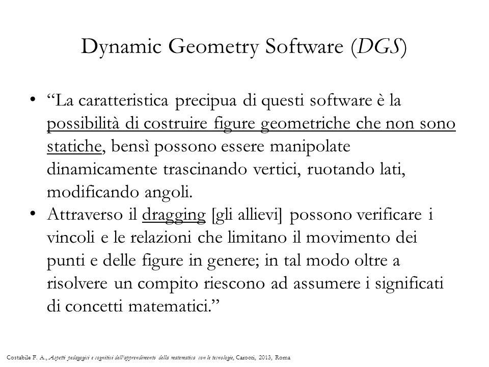 """""""La caratteristica precipua di questi software è la possibilità di costruire figure geometriche che non sono statiche, bensì possono essere manipolate"""