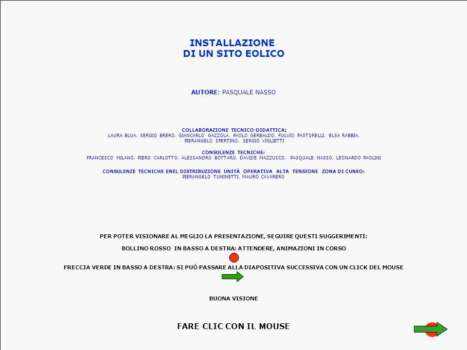 PER POTER VISIONARE AL MEGLIO LA PRESENTAZIONE, SEGUIRE QUESTI SUGGERIMENTI: BOLLINO ROSSO IN BASSO A DESTRA: ATTENDERE, ANIMAZIONI IN CORSO FRECCIA V