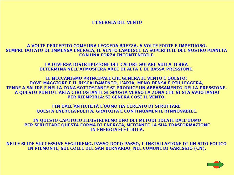 UN AEROGENERATORE A TORRE È COMPOSTO SCHEMATICAMENTE COME IN FIGURA PALE -> ASSE CON MOTO LENTO MOLTIPLICATORE -> DA MOTO LENTO A MOTO VELOCE TURBINE -> ASSE CON MOTO VELOCE PRODUCE CORRENTE ALTERNATA (50 HZ)