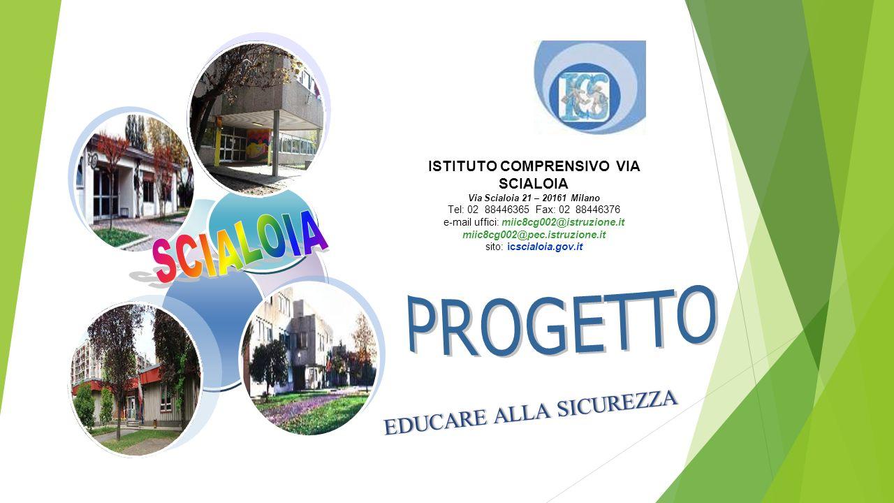 ISTITUTO COMPRENSIVO VIA SCIALOIA Via Scialoia 21 – 20161 Milano Tel: 02 88446365 Fax: 02 88446376 e-mail uffici: miic8cg002@istruzione.it miic8cg002@pec.istruzione.it sito: icscialoia.gov.it EDUCARE ALLA SICUREZZAEDUCARE ALLA SICUREZZA