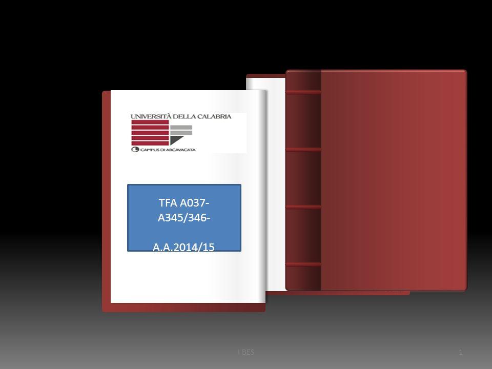 Introduzione TFA A037- A345/346- A.A.2014/15 I BES1