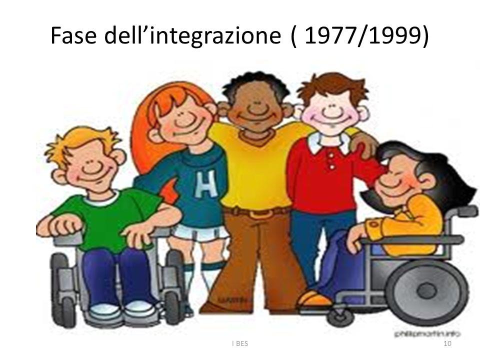 Fase dell'integrazione ( 1977/1999) I BES10
