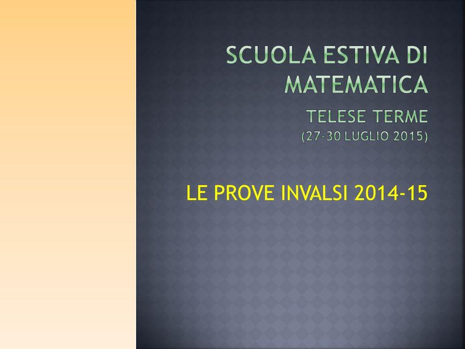 LE PROVE INVALSI 2014-15