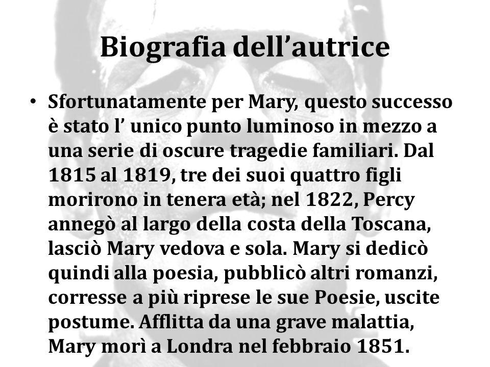 Biografia dell'autrice Sfortunatamente per Mary, questo successo è stato l' unico punto luminoso in mezzo a una serie di oscure tragedie familiari. Da
